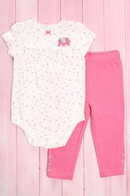 Костюмчик для девочки: бодик с коротким рукавом и штанишки , хлопок, код 56041, арт 107