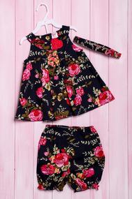 Комплект летний для девочки: платье, шортики и повязка