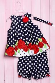 Комплект: Плаття і шортики, бавовна, код 56185, арт 217