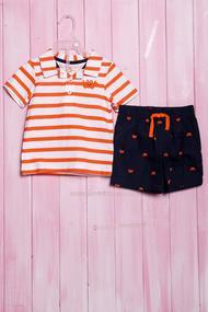 Костюмчик для мальчика: футболка-поло и шортики, хлопок