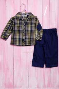 Костюмчик для мальчика: рубашка и штанишки, хлопок