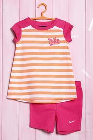 Костюм для девочки: футболка и велосипедки, хлопок, код 56386