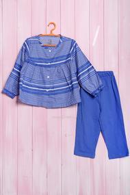 Костюм для девочки: кофточка с длинным рукавом и штанишки, хлопок