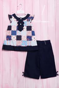 Летний костюм для девочки: маечка и штанишки, хлопок