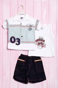 Летний комплект для мальчика: маечка, тенниска и шортики, хлопок