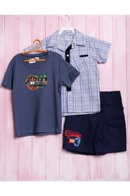Летний комплект для мальчика: футболка, тенниска и шортики, хлопок