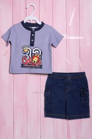 Костюмчик для мальчика: футболка и шортики, хлопок