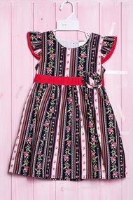 Нарядное платье с коротким рукавом для девочки, хлопок