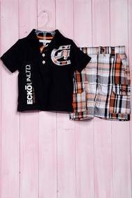 Костюмчик для мальчика: футболка поло и шортики, хлопок, код 56462, арт 130323