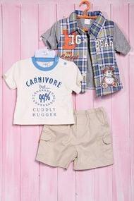 Комплект для мальчика: футболка, шортики и тенниска, хлопок
