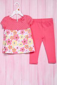 Костюм для девочки: кофточка с коротким рукавом и штанишки