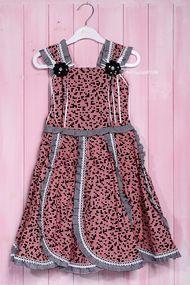 Нарядное платье для девочки с пышной юбкой, хлопок
