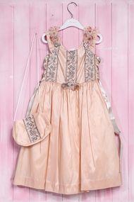 Комплект: Нарядное платье с пышной юбкой для девочки и сумочка