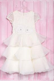 Нарядное белое платье для девочки