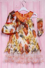 Комплект: Платье, сумочка и повязка