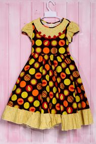 Яркое платье для девочки, хлопок, код 56631, арт 55367