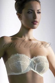 Balconette bra with soft cup