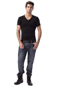 Men's T-shirt to give slimness