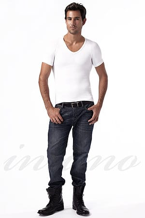 Мужская футболка для придания стройности Peachy Pink, Италия Max-3 фото