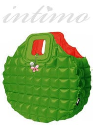 Inflatable beach bag, two-way