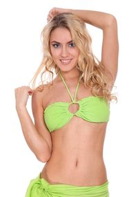 Top bathing suit with a cup compacted