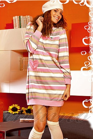 Платье домашнее, хлопок Buccia di mela, Италия DI6182 Z фото
