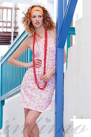 Платье, хлопок Buccia di mela, Италия DC6406Q фото