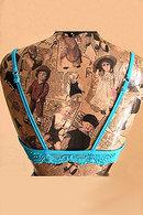 Бюстгальтер на косточках и трусики слип Comet Bacio 1522 - фото №3