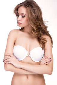 Balconette bra with push up