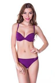 Большой ассортимент слитных и раздельных моделей в фиолетовых тонах