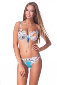 Swimsuit with sealed cup, melting slip