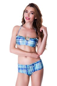 Swimsuit with compacted cup swimwear shorts