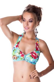 Top swimsuit with padded cups