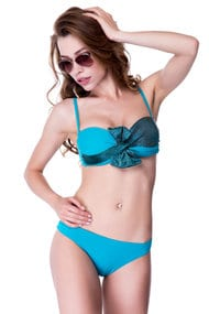Swimsuit balconet with a sealed cup, melting slip