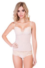 Peignoir push up slip