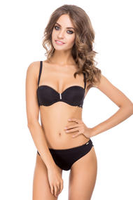 Set of linen: bra balconet push up and panties brazilian